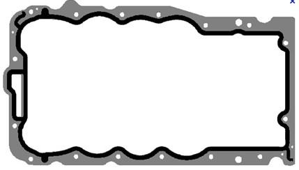 Renault Oil pan gasket 55 353 797